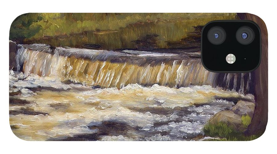 Water IPhone 12 Case featuring the painting Spring Flow by Sharon E Allen