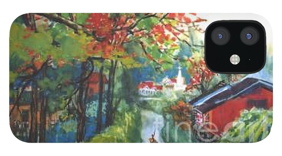 Spring IPhone 12 Case featuring the painting Spring In Southern China by Guanyu Shi