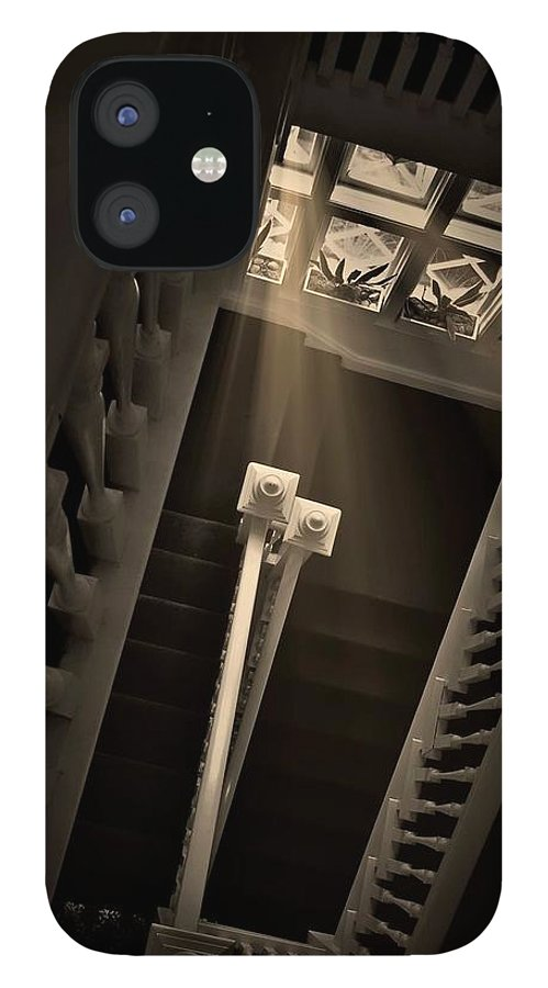 Old IPhone 12 Case featuring the photograph Stairway Light, Redstone Castle, Colorado by Zayne Diamond Photographic