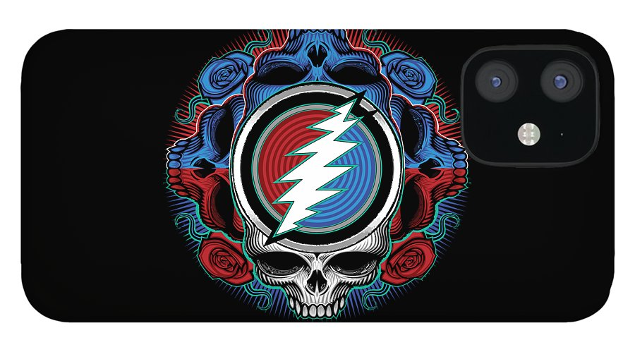 Steal Your Face iPhone 12 Case featuring the digital art Steal Your Face - Ilustration by The Bear