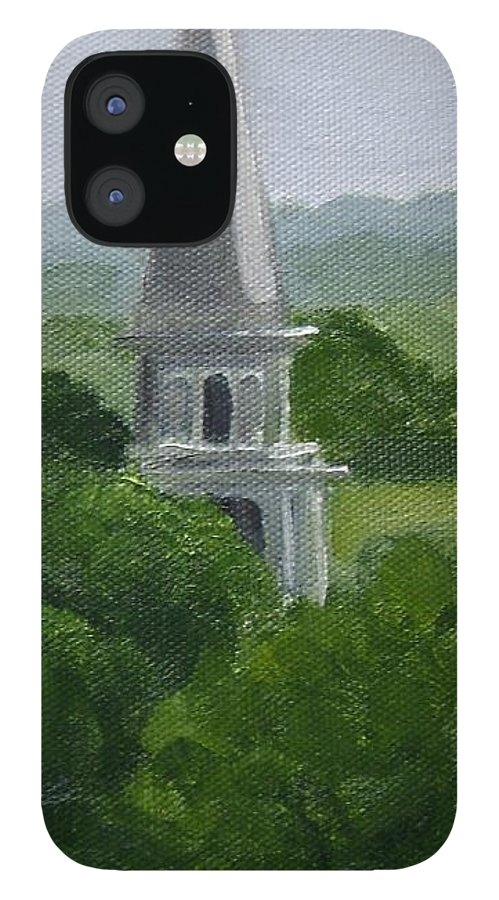 Steeple IPhone 12 Case featuring the painting Steeple by Toni Berry