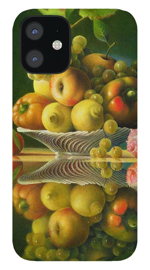 Still Life IPhone 12 Case featuring the painting Still Life with a Rose by Giuseppe Mariotti