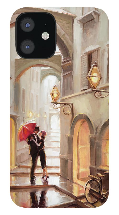 Love IPhone 12 Case featuring the painting Stolen Kiss by Steve Henderson