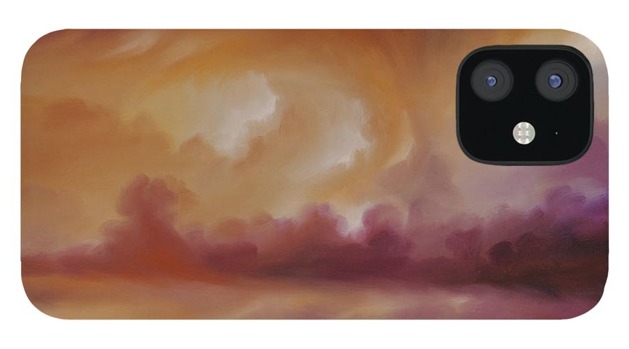 Tempest IPhone 12 Case featuring the painting Storm Clouds 2 by James Christopher Hill