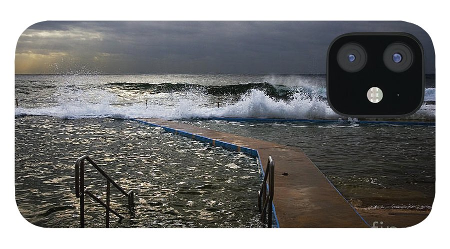 Storm Clouds Collaroy Beach Australia IPhone 12 Case featuring the photograph Stormy morning at Collaroy by Sheila Smart Fine Art Photography