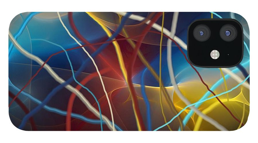 Fine Art IPhone 12 Case featuring the digital art String Theory by David Lane