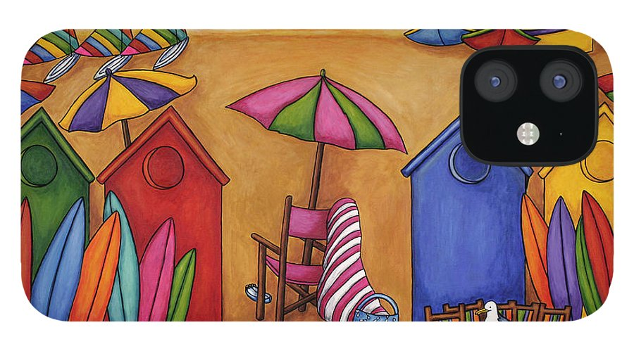 Summer IPhone 12 Case featuring the painting Summer Delight by Lisa Lorenz