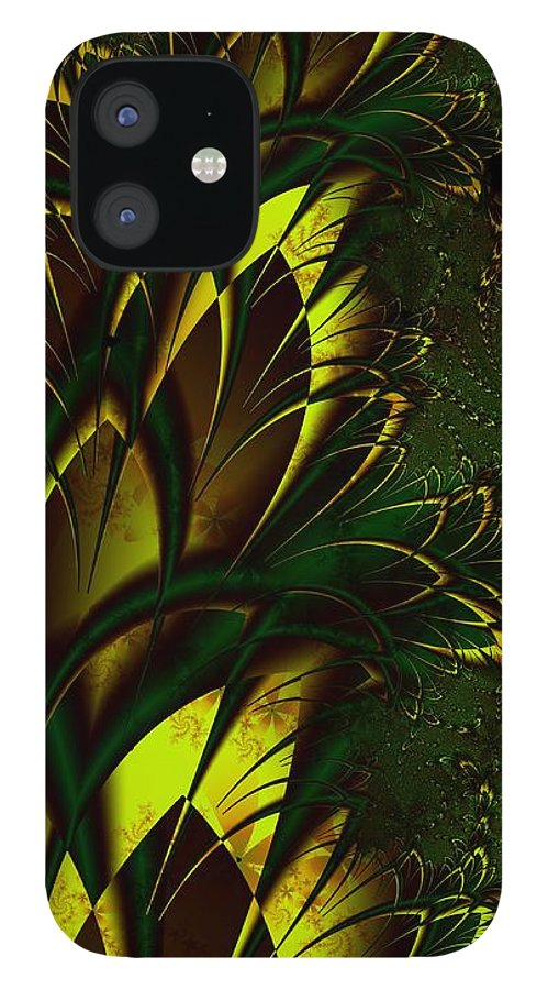 Digital Art IPhone 12 Case featuring the digital art Summer Frenzy by Amanda Moore