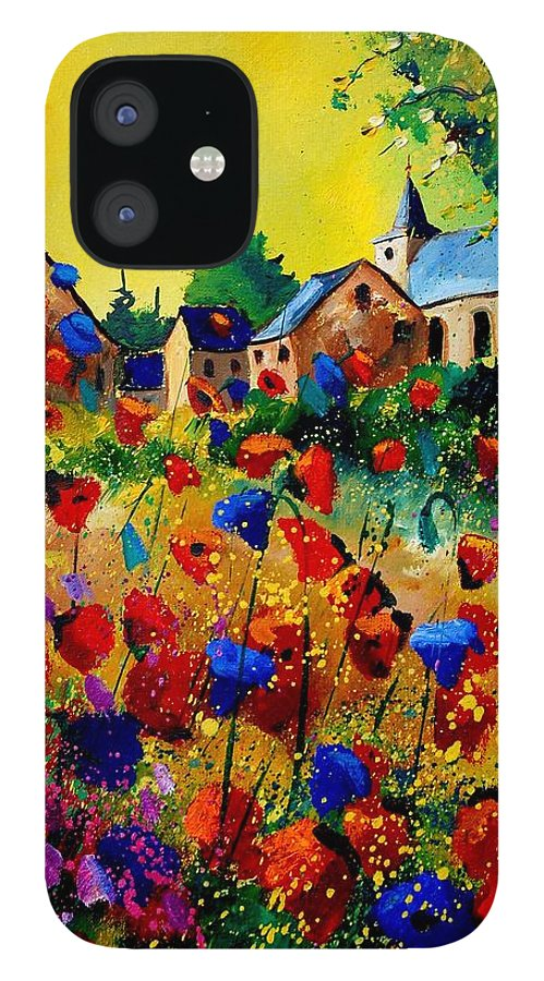 Poppy IPhone 12 Case featuring the painting Summer in Sosoye by Pol Ledent