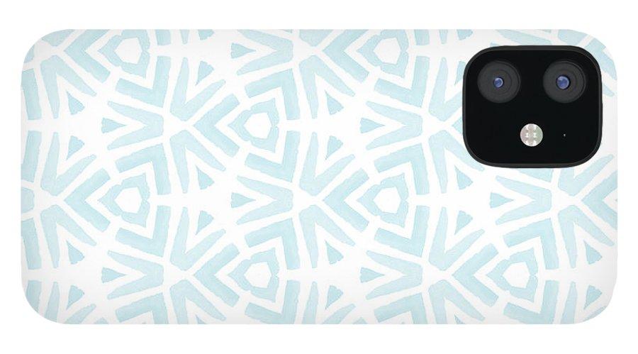 Pattern iPhone 12 Case featuring the digital art Summer Splash- Pattern Art by Linda Woods by Linda Woods