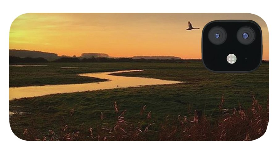 Natureonly IPhone 12 Case featuring the photograph Sunset At Holkham Today  #landscape by John Edwards