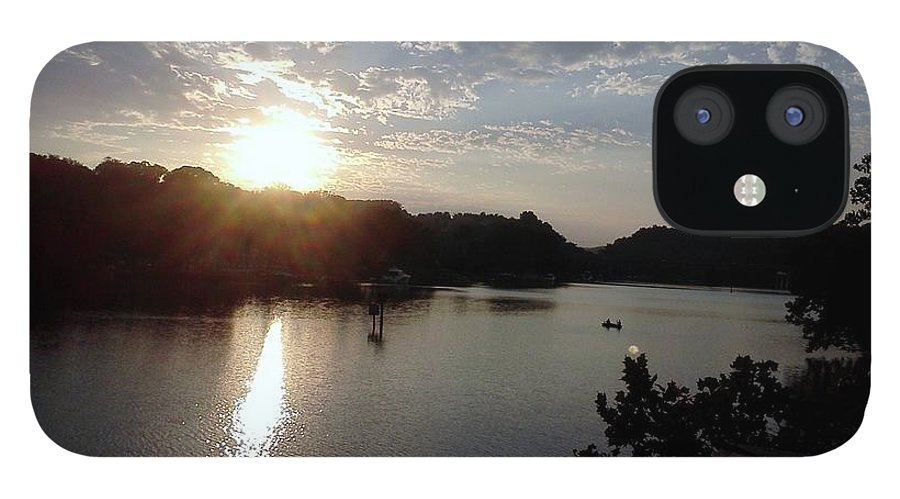 Sun IPhone 12 Case featuring the photograph Sunset at Occoquan by Jimmy Clark