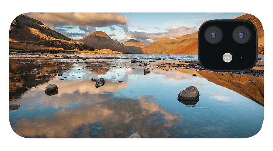 Sunrise IPhone 12 Case featuring the photograph Sunset at Wast Water #3, Wasdale, Lake District, England by Anthony Lawlor