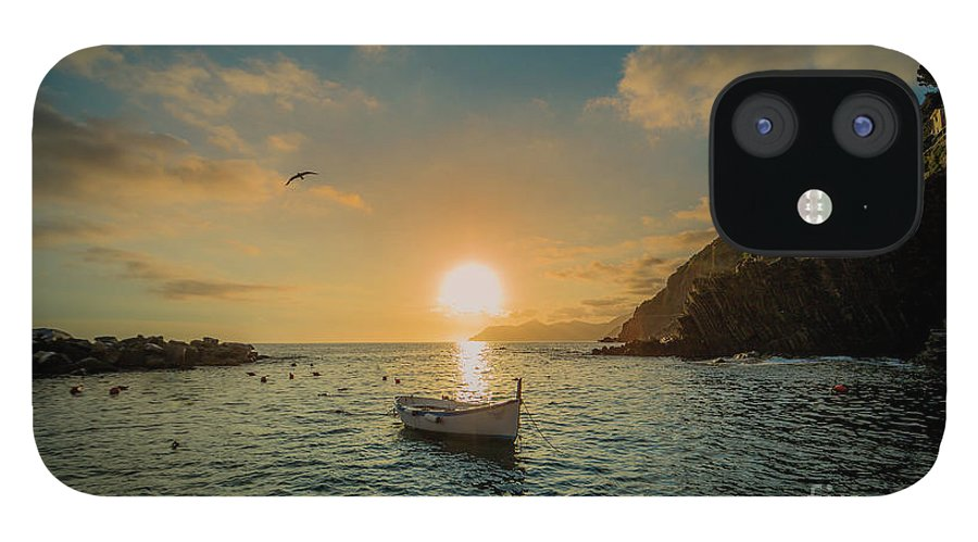 Travel IPhone 12 Case featuring the photograph Sunset in Cinque Terre by Alex Dudley
