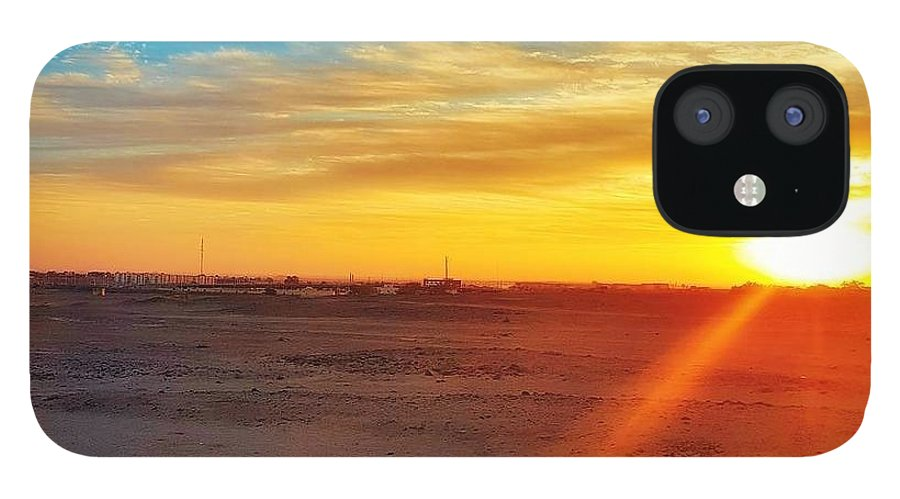 Sunset IPhone Case featuring the photograph Sunset in Egypt by Usman Idrees