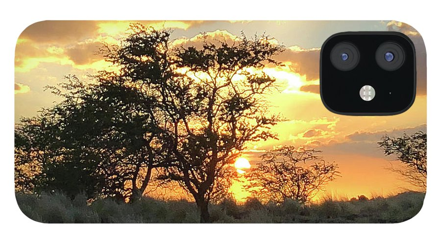 Sunset IPhone 12 Case featuring the photograph Sunset Kona by Heather Coen