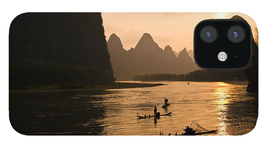 Asia IPhone 12 Case featuring the photograph Sunset on the Li River by Michele Burgess