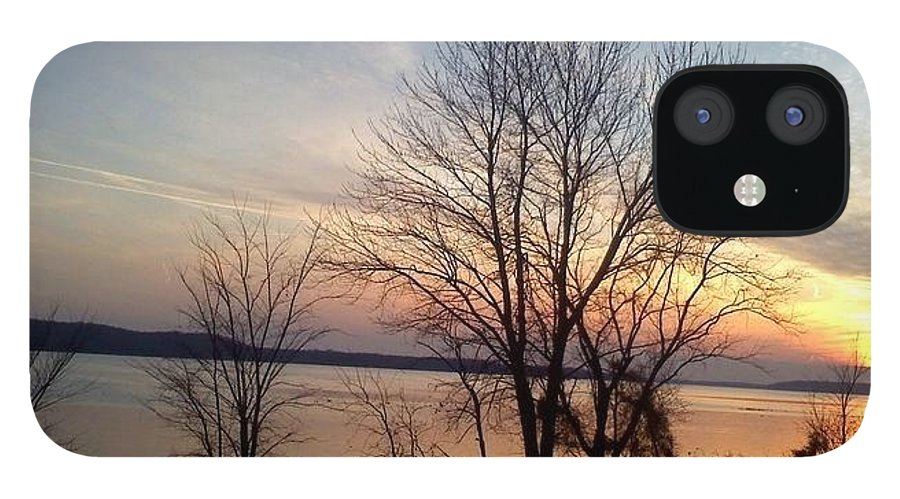 Sunset IPhone 12 Case featuring the photograph Sunset over the Potomac by Jimmy Clark