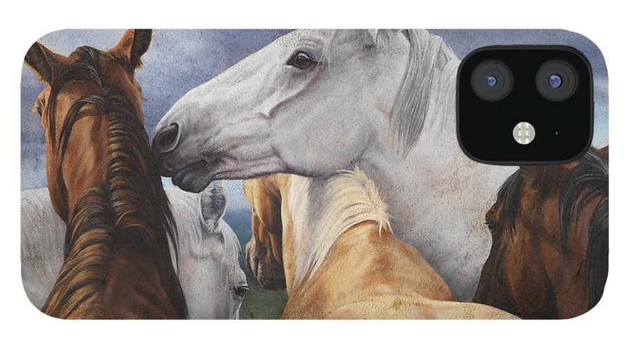 Michelle Grant IPhone 12 Case featuring the painting Support Group by JQ Licensing