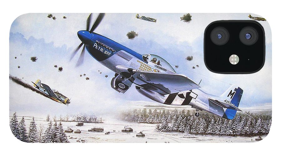 Aviation IPhone 12 Case featuring the painting Surprise at Asch by Marc Stewart