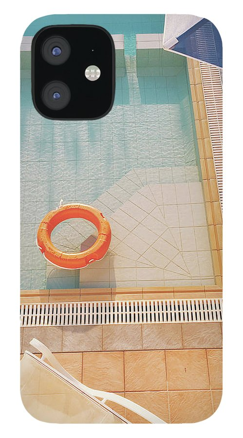 Water IPhone 12 Case featuring the photograph Swimming Pool by Cassia Beck