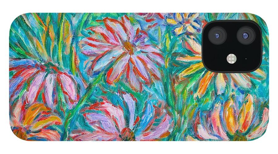 Impressionist IPhone 12 Case featuring the painting Swirling Color by Kendall Kessler