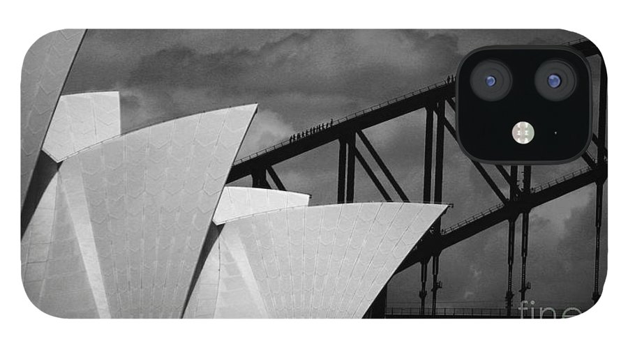 Sydney Opera House IPhone 12 Case featuring the photograph Sydney Opera House with Harbour Bridge by Sheila Smart Fine Art Photography