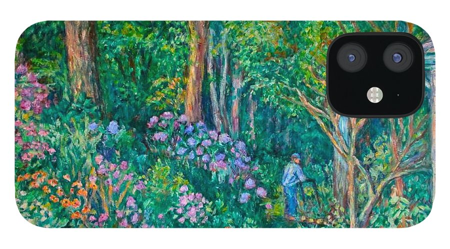 Suburban Paintings IPhone 12 Case featuring the painting Taking a Break by Kendall Kessler