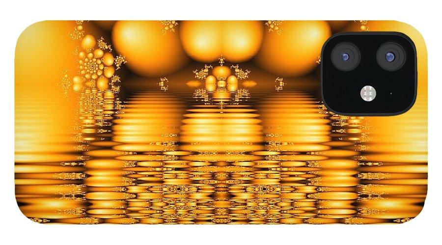 Tangerine Orange Water Sacred Tears IPhone 12 Case featuring the digital art Tangerine tears by Veronica Jackson