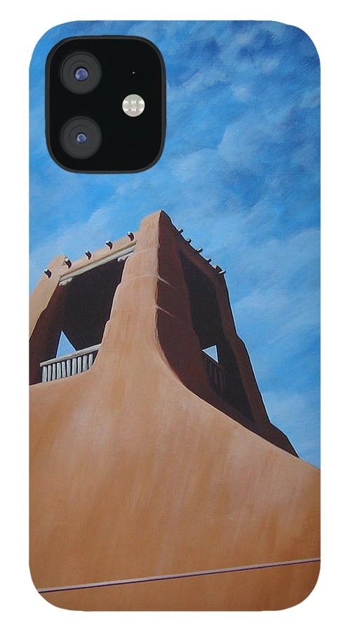 Taos IPhone 12 Case featuring the painting Taos Memory by Hunter Jay