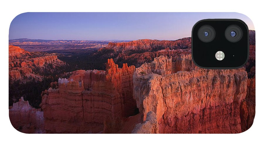 Hoodoo IPhone 12 Case featuring the photograph Temple of the setting sun by Mike Dawson