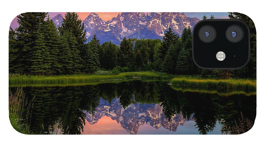 Tetons iPhone 12 Case featuring the photograph Teton Mornig Glow by Ryan Smith
