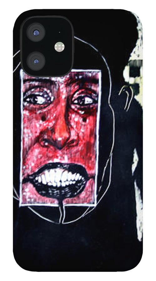 Smile IPhone 12 Case featuring the mixed media That Certian Smile by Chester Elmore