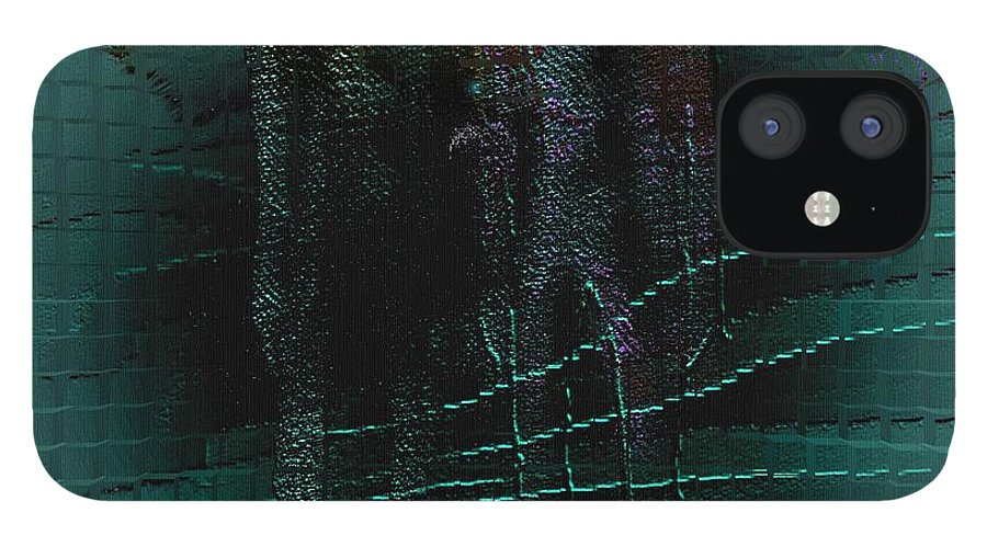 People Alien Arrival Visitors IPhone 12 Case featuring the digital art The Arrival by Veronica Jackson