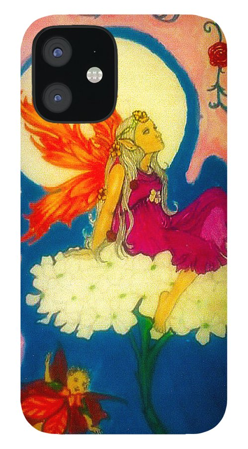 IPhone 12 Case featuring the pastel The Art of Being by Harry Richards