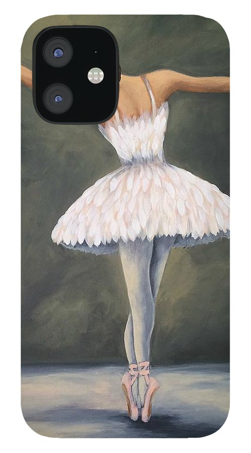 Ballet iPhone 12 Case featuring the painting The Ballerina V by Torrie Smiley