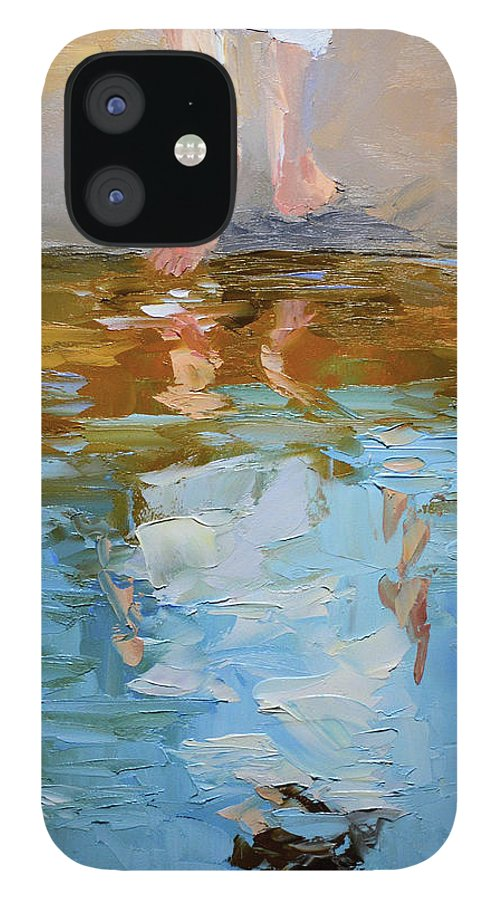 Baptism IPhone 12 Case featuring the painting The Baptism of Jesus by Mike Moyers