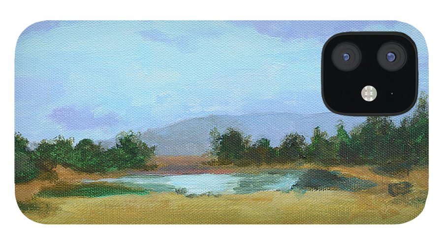 Landscape IPhone 12 Case featuring the painting The Big Thaw by Mary Chant
