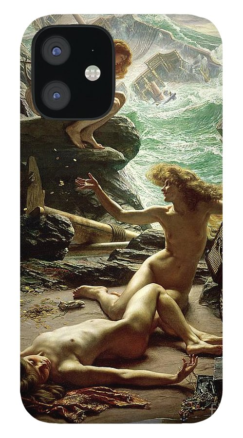 The Cave Of The Storm Nymphs IPhone 12 Case featuring the painting The Cave of the Storm Nymphs by Sir Edward John Poynter