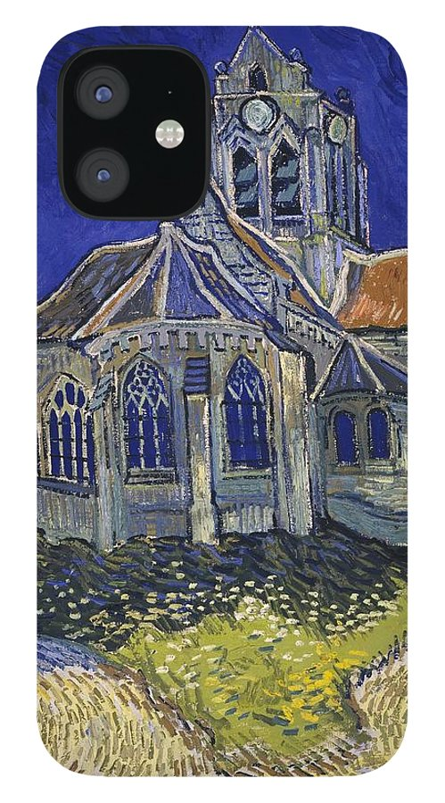 Vincent Van Gogh IPhone 12 Case featuring the painting The Church At Auvers by Van Gogh