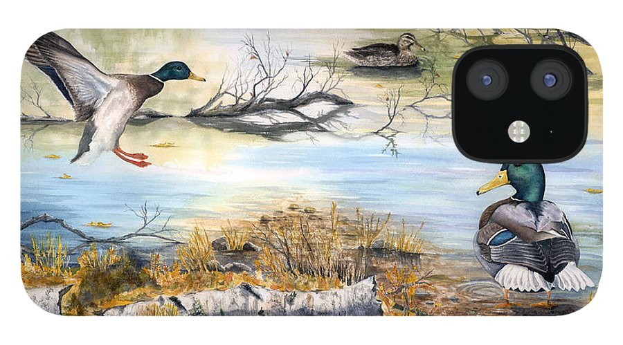 Mallerds IPhone 12 Case featuring the painting The Competition by Mary Tuomi