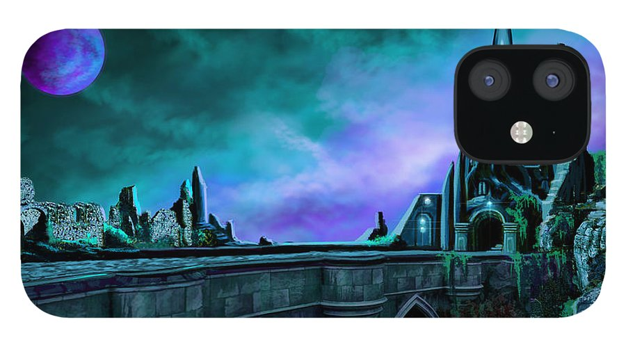 Copyright 2015 - James Christopher Hill IPhone 12 Case featuring the painting The Crystal Palace - Nightwish by James Christopher Hill