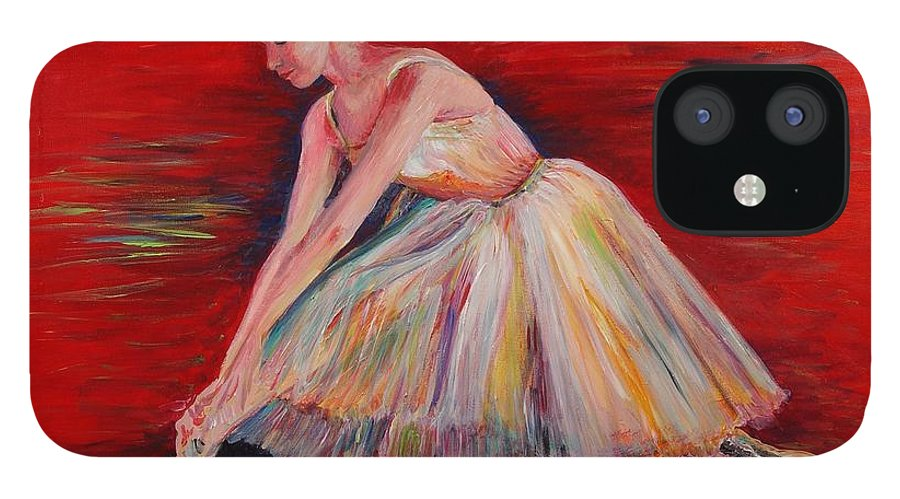 Dancer IPhone 12 Case featuring the painting The Dancer by Nadine Rippelmeyer