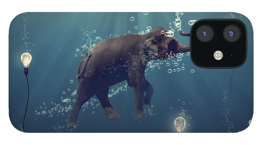 Elephant IPhone 12 Case featuring the photograph The dreamer by Martine Roch
