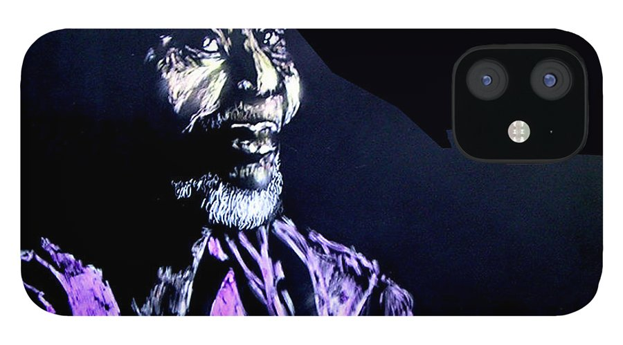 IPhone 12 Case featuring the mixed media The Elder by Chester Elmore