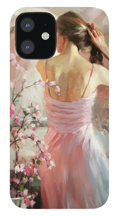 Woman IPhone 12 Case featuring the painting The Evening Ahead by Steve Henderson