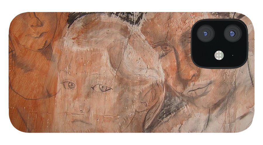 Beautiful IPhone 12 Case featuring the drawing The Eyes of Alianna by J Bauer