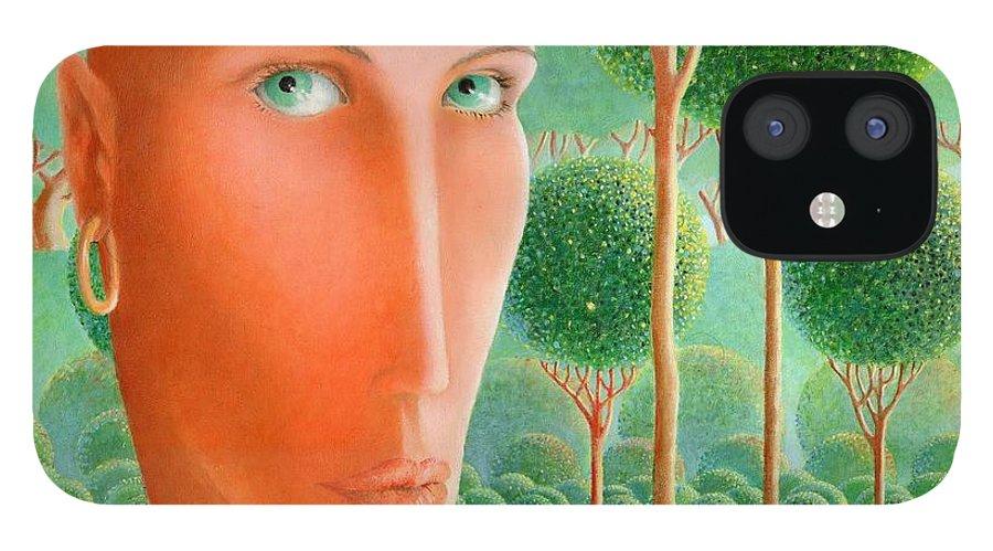 Giuseppe Mariotti IPhone 12 Case featuring the painting The Garden by Giuseppe Mariotti