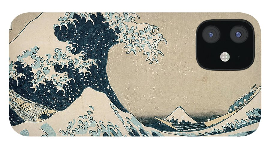 Wave IPhone 12 Case featuring the painting The Great Wave of Kanagawa by Hokusai