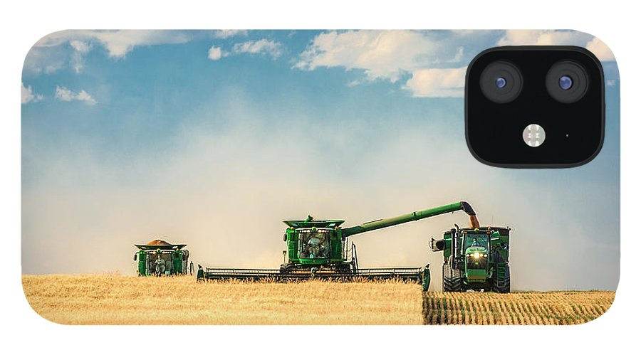 Ombine IPhone 12 Case featuring the photograph The Green Machines by Todd Klassy